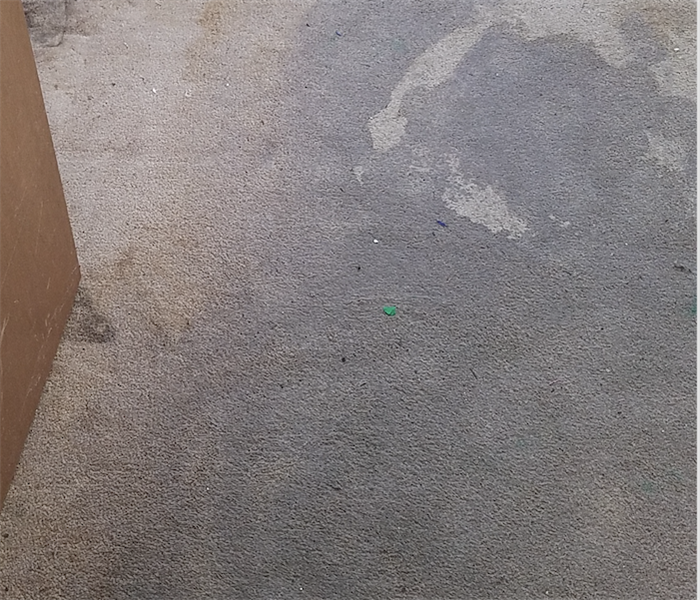 Why does the carpet get removed on a water damage? Before